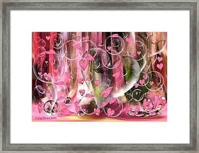 Love Floats Framed Print by Joy Gerow