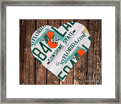 Love Florida Framed Print