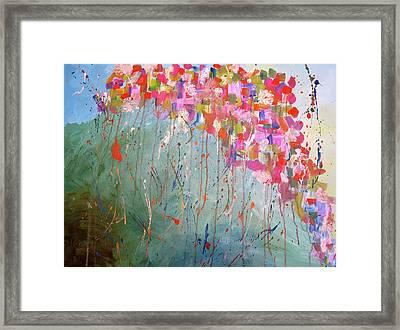 Love Flower Mountain Framed Print