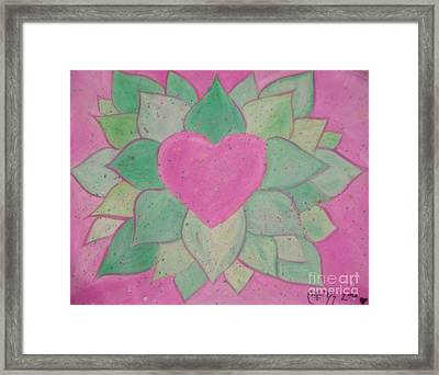 Love Flowers Framed Print by Sacred  Muse