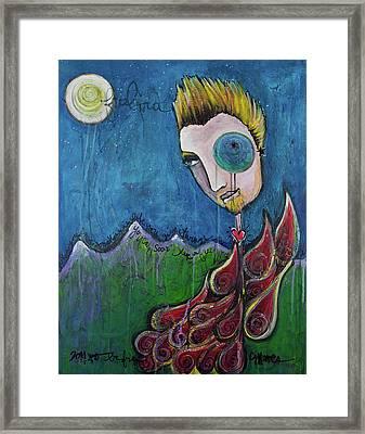Love For Birdman Framed Print