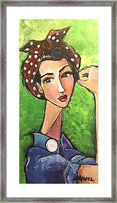 Framed Print featuring the painting Love For Riveters by Laurie Maves ART