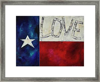 Framed Print featuring the painting Love For Texas Two by Patti Schermerhorn