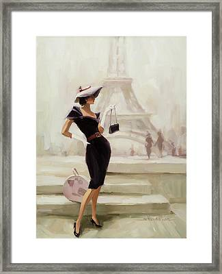 Love, From Paris Framed Print