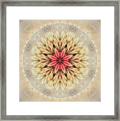 Love From Within Mandala Framed Print