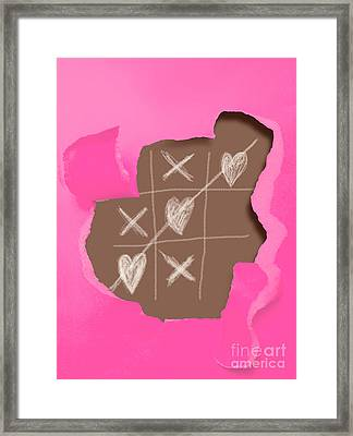Love Games Framed Print