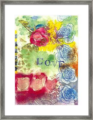 Love Framed Print by Gloria Von Sperling