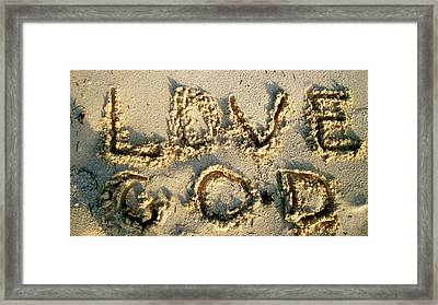 Love God Framed Print