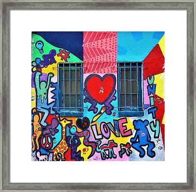Love Haring  Framed Print