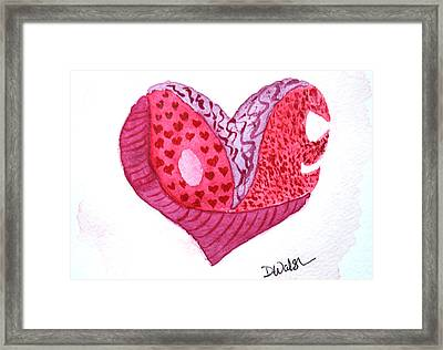 Framed Print featuring the painting Love Heart by Donna Walsh