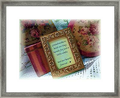 Framed Print featuring the photograph Love Holds Our Hearts Forever by Kate Word