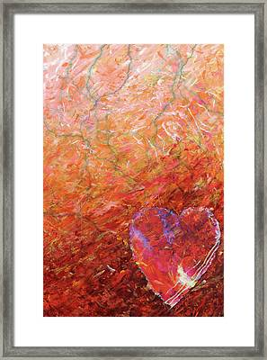 Love, Hope, And Compassion, For A Peaceful World Framed Print by Julie Turner