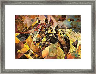 Love Horses Framed Print by Lynda Payton