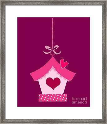 Love House T-shirt Framed Print by Herb Strobino