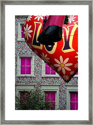 Love House Framed Print by Jez C Self