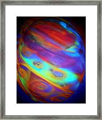 Love In A Swirl Framed Print by Brenda Adams