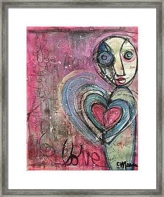 Love In All Things Framed Print by Laurie Maves ART