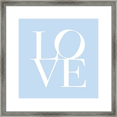 Love In Baby Blue Framed Print
