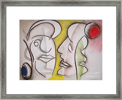 Love In Between Framed Print
