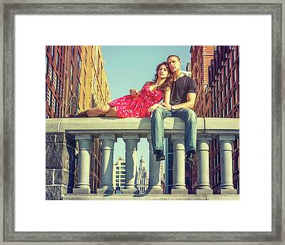 Love In Big City Framed Print