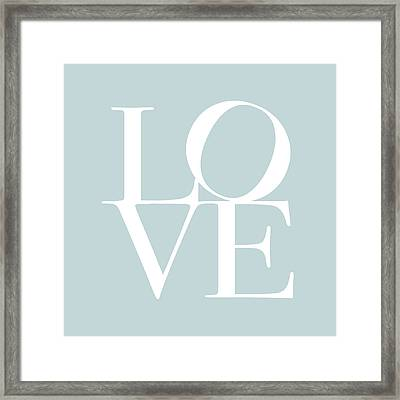 Love In Duck Egg Blue Framed Print by Michael Tompsett