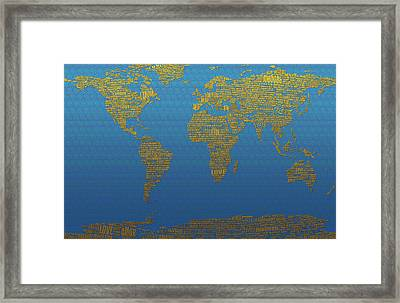 Love In Every Language Framed Print