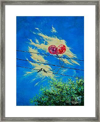 Love In Flight Framed Print