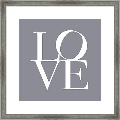 Love In Grey Framed Print