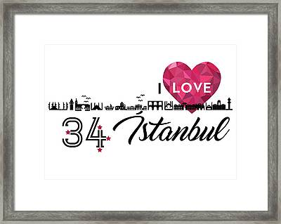 Love In Istanbul Framed Print by Emre Yaprak