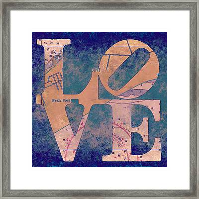 Love In Long Island V4 Framed Print by Brandi Fitzgerald
