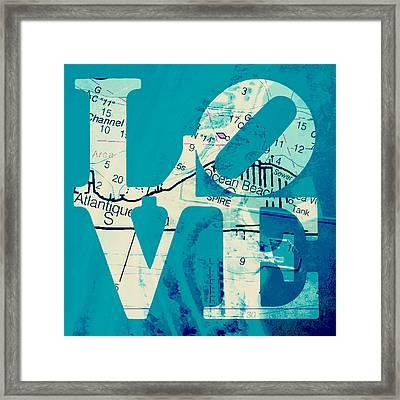 Love In Long Island V7 Framed Print by Brandi Fitzgerald