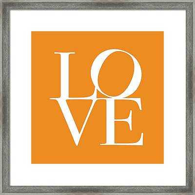 Love In Orange Framed Print
