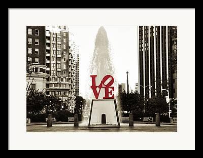 Love Park Digital Art Framed Prints