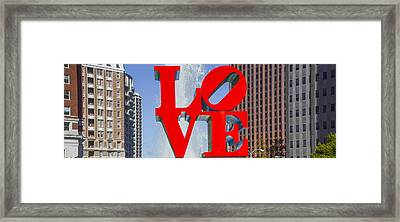 Framed Print featuring the photograph Love In Philadelphia Pa by Bill Cannon