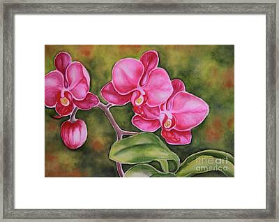 Love In Pink Framed Print