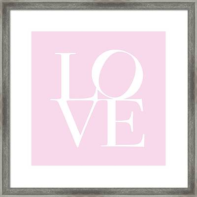 Love In Pink Framed Print by Michael Tompsett