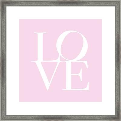 Love In Pink Framed Print by Michael Tompsett