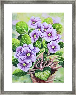 Love In Purple 1 Framed Print