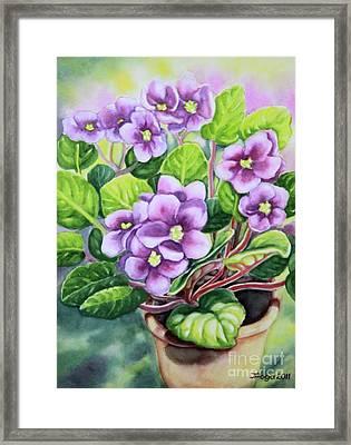 Love In Purple 2 Framed Print