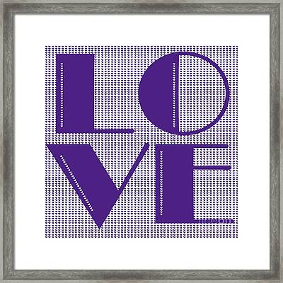 Love In Purple Framed Print