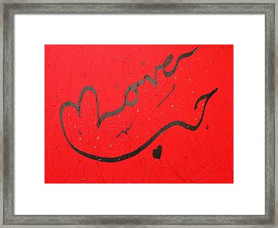 Love In Red By Faraz Framed Print
