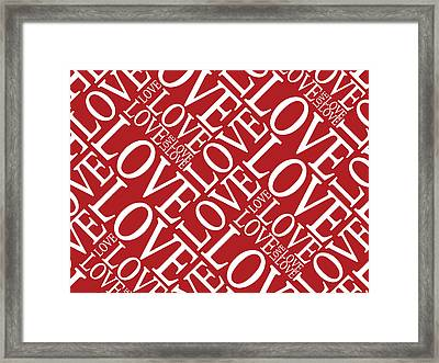 Love In Red Framed Print