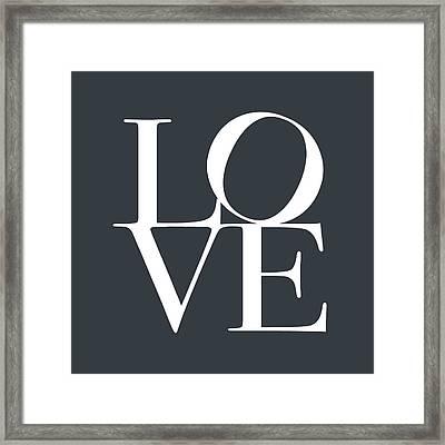 Love In Slate Grey Framed Print by Michael Tompsett