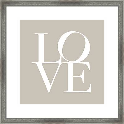 Love In Taupe Framed Print