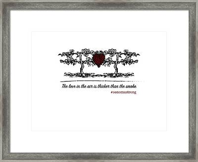 Love In The Air Framed Print