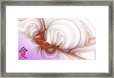 Love In The Orient Framed Print