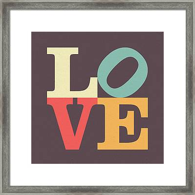 Love In Vintage Framed Print