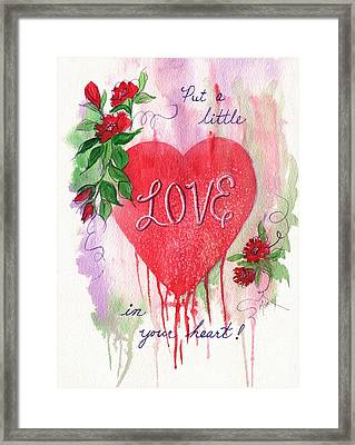Framed Print featuring the painting Love In Your Heart by Marilyn Smith