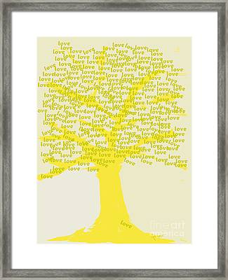 Framed Print featuring the painting Love Inspiration Tree by Go Van Kampen