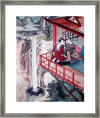 Love Is A Deep Pool Framed Print